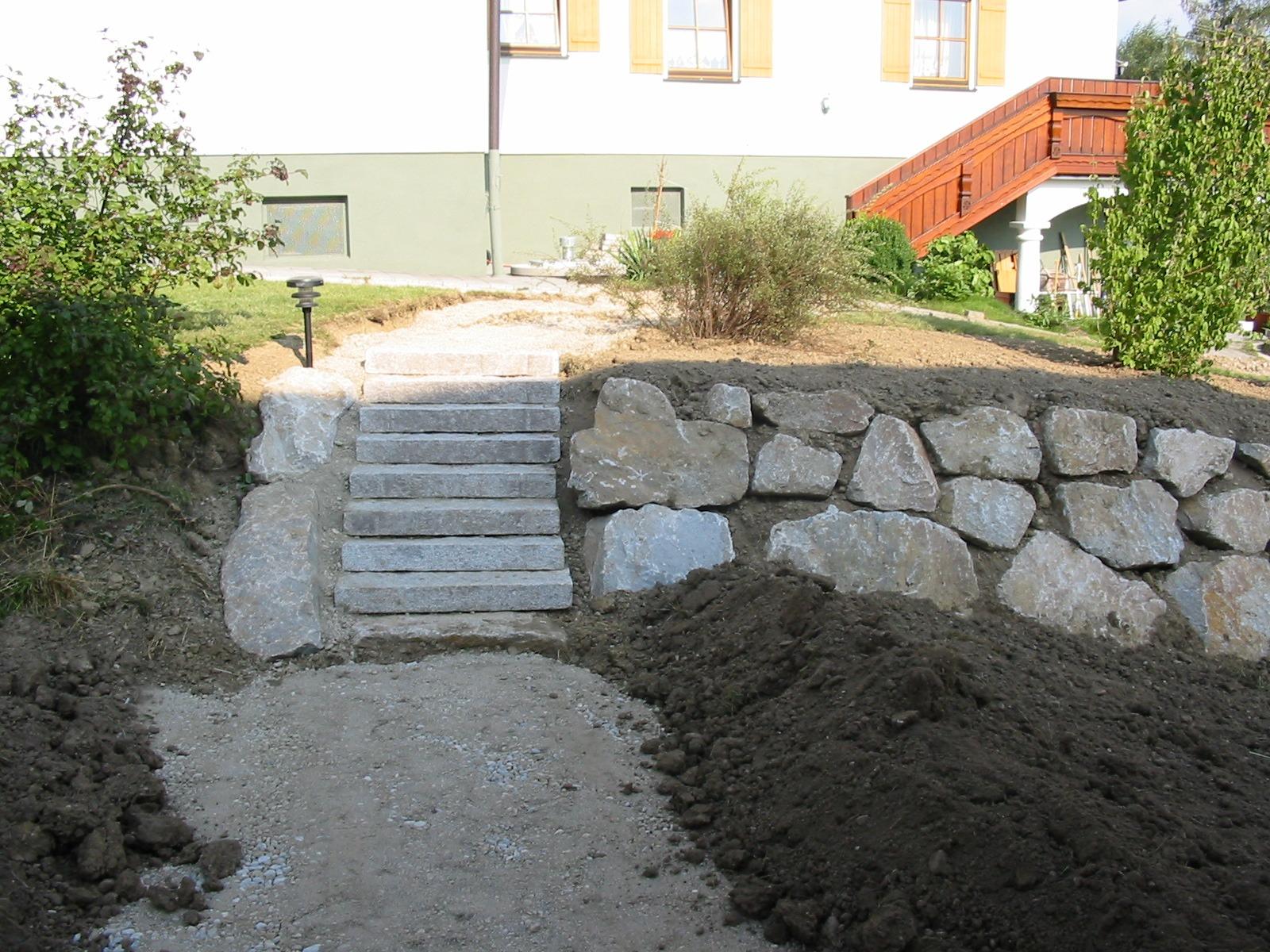 Granitstiege_Granitsteinmauer